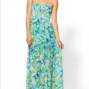 NWT Arc & Co floral strapless maxi dress